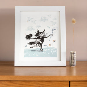 ART PRINT – Top Hat Cat