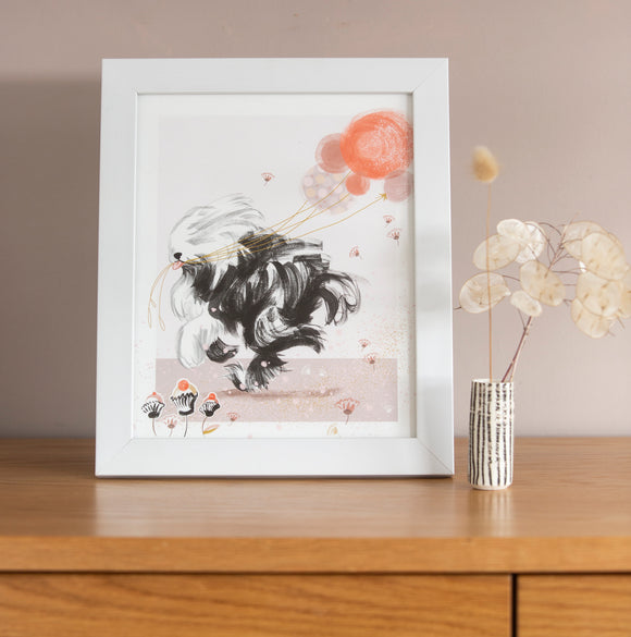 ART PRINT – Old English Sheep Dog ( 8