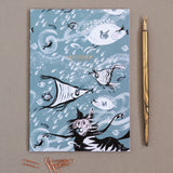 A5 NOTEBOOK (Single) – Cat Amongst the Fishy
