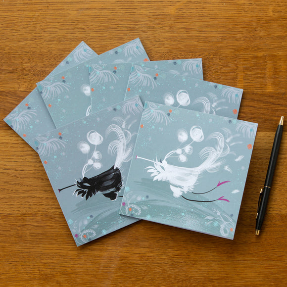 6 FLUTE BIRD, PICTURE CARDS