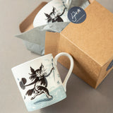 Fine bone china mug fishy tales cats cat Gift box