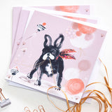 GREETINGS CARDS (Set of 6) –  French Bulldog