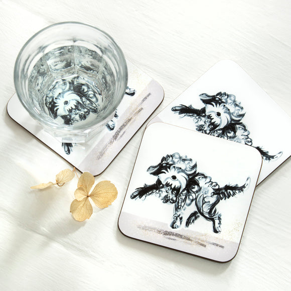 COASTERS (4) – Dashing Dogs Collection