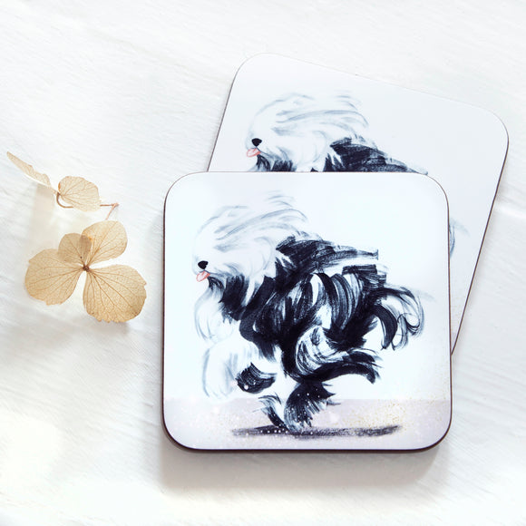 Old English Sheep dog, Dashing Dogs, Coasters