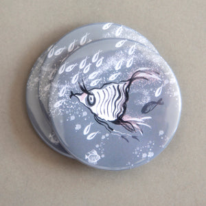 POCKET MIRROR - Frilly Angle Fish