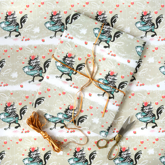 CHRISTMAS GIFT WRAP | SINGLE SHEET | CATFISH | Fishy Tales Collection