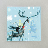 CHRISTMAS CARD | Snowscape Reindeer (Single card)