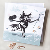 GREETINGS CARD – TOP HAT CAT ('Fishy Tales' collection)