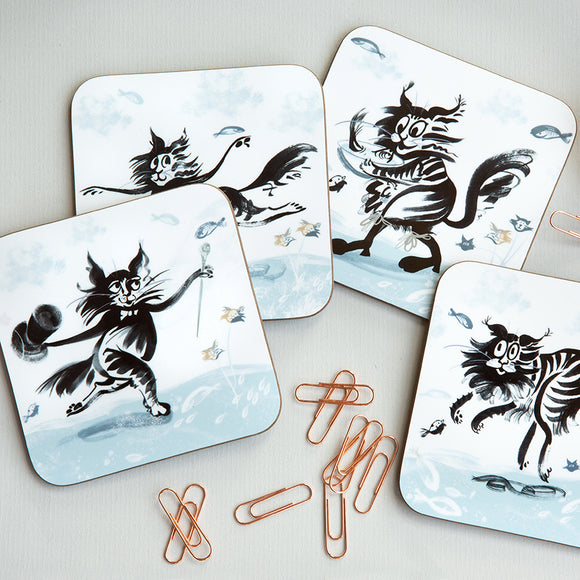 COASTER – SET OF 4 ('Fishy Tales' collection)