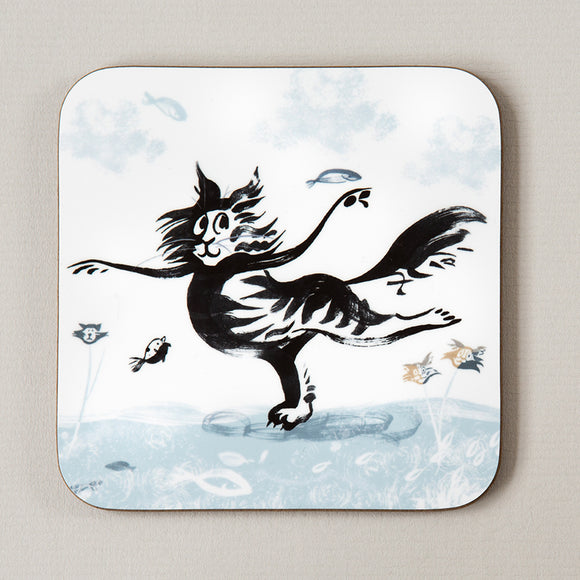 COASTER – DANCING CAT ('Fishy Tales' collection)