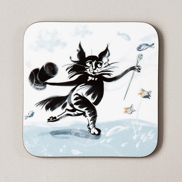 COASTER – TOP HAT CAT ('Fishy Tales' collection)