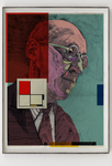 Vintage Piet Mondrian Portrait Abstract