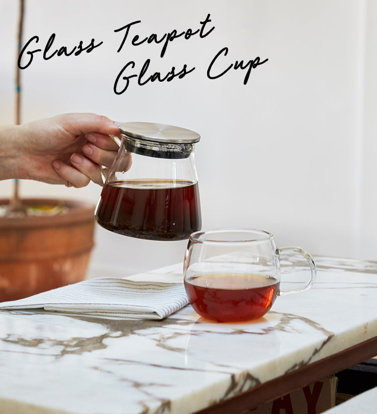 Glass Teapot, Glass Cup