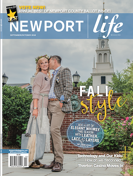 Groove Newport in Newport Life Magazine's Fall Fashion Spread 2018