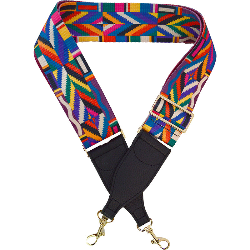 Colorful Patterned Bag Strap