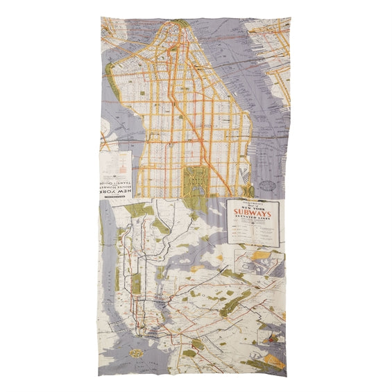 NYC Street Map Scarf