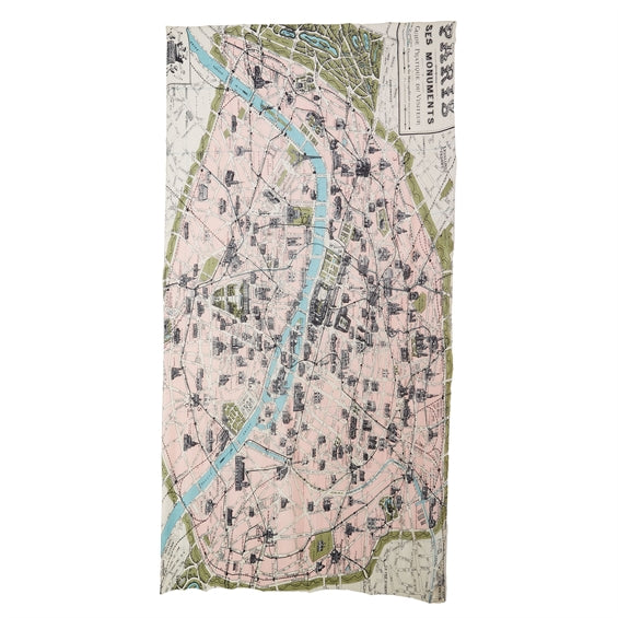 Paris Street Map Scarf