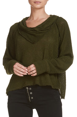 groove newport off shoulder sweater