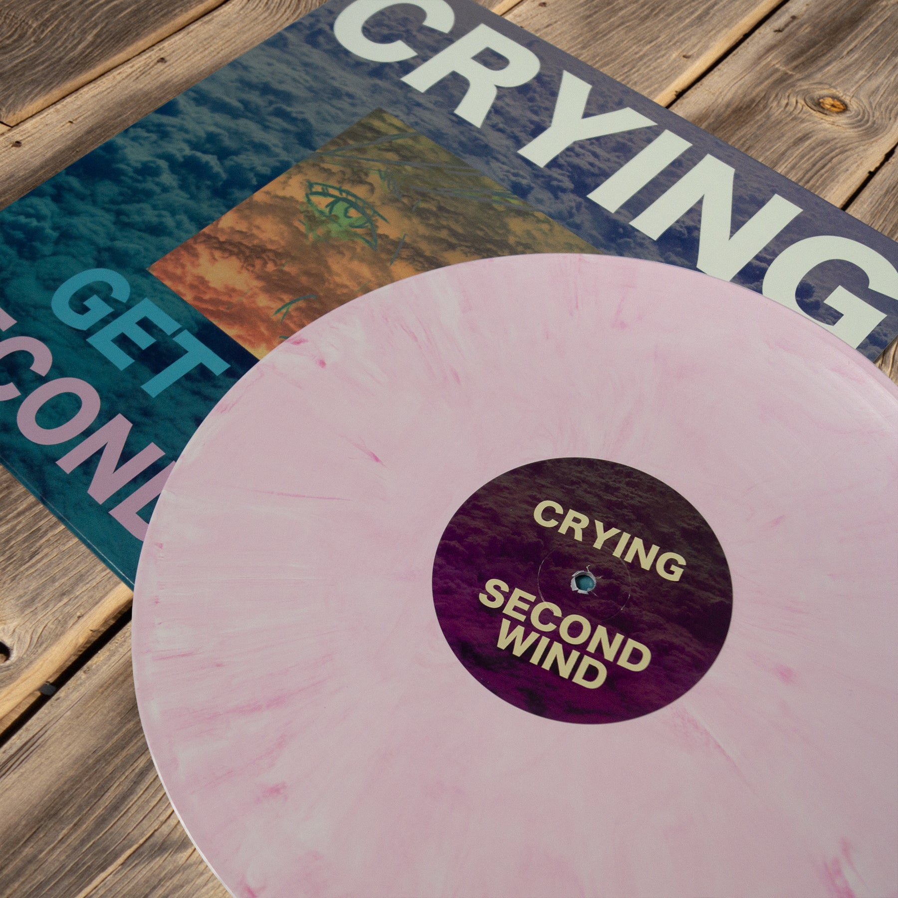 CRYING - GET OLDE AND SECOND WIND - 12 VINYL