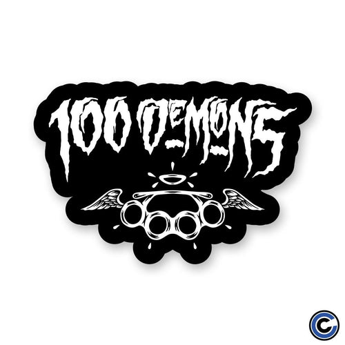 "Buy – 100 Demons ""Brass Knuckles"" Sticker – Band & Music Merch – Cold Cuts Merch"