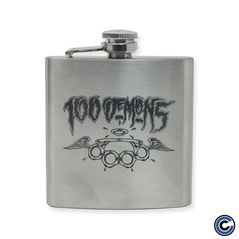 "100 Demons ""Brass Knuckles"" Flask"
