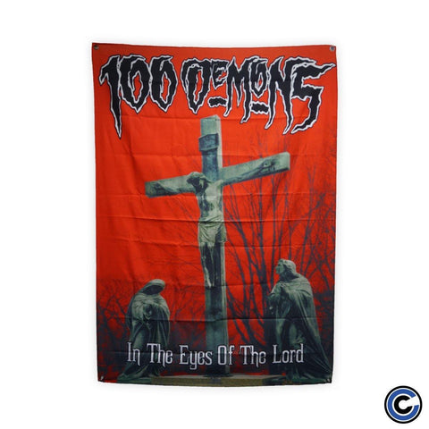 "100 Demons ""In The Eyes of the Lord"" Flag"