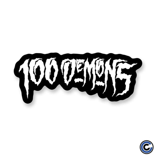 "Buy – 100 Demons ""OG Logo"" Sticker – Band & Music Merch – Cold Cuts Merch"