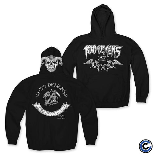 "Buy Now – 100 Demons ""Spade Sickle"" Hoodie – Cold Cuts Merch"