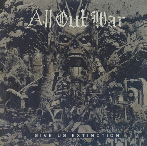 "Buy – All Out War ""Give Us Extinction"" 12"" – Band & Music Merch – Cold Cuts Merch"