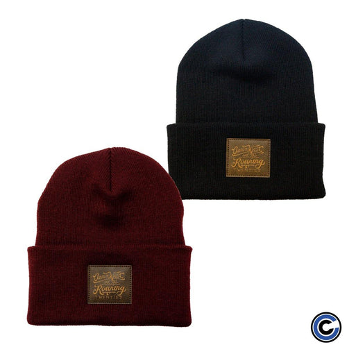 "Buy Now – Aaron West & The Roaring Twenties ""Script Logo Leather Patch"" Beanie – Cold Cuts Merch"