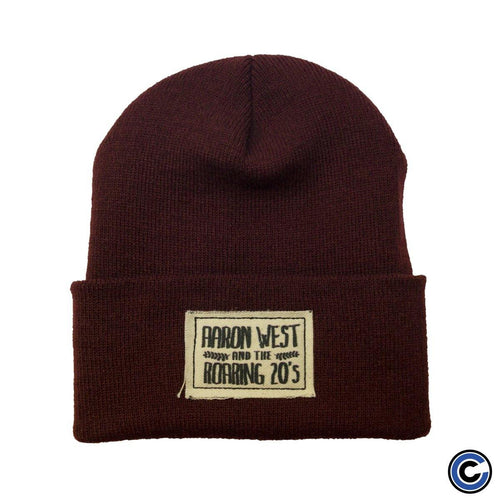 "Buy – Aaron West & The Roaring Twenties ""Coffee Patch"" Beanie – Band & Music Merch – Cold Cuts Merch"