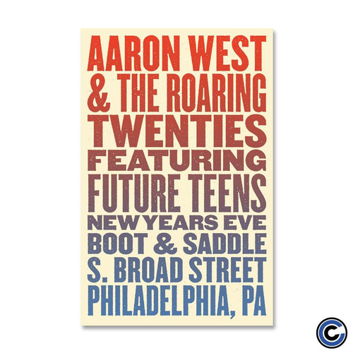 "Aaron West & The Roaring Twenties ""2018 NYE"" Poster"