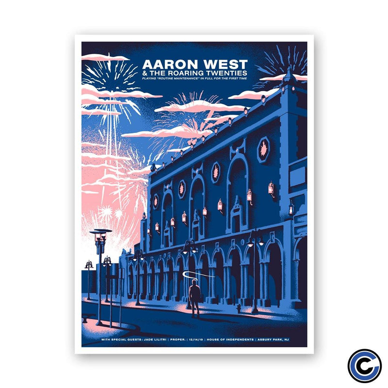 "Aaron West and The Roaring Twenties ""Asbury Blue"" Poster"