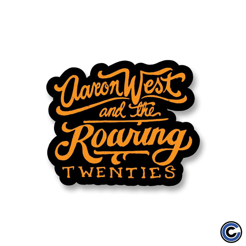"Aaron West & The Roaring Twenties ""Script"" Sticker"