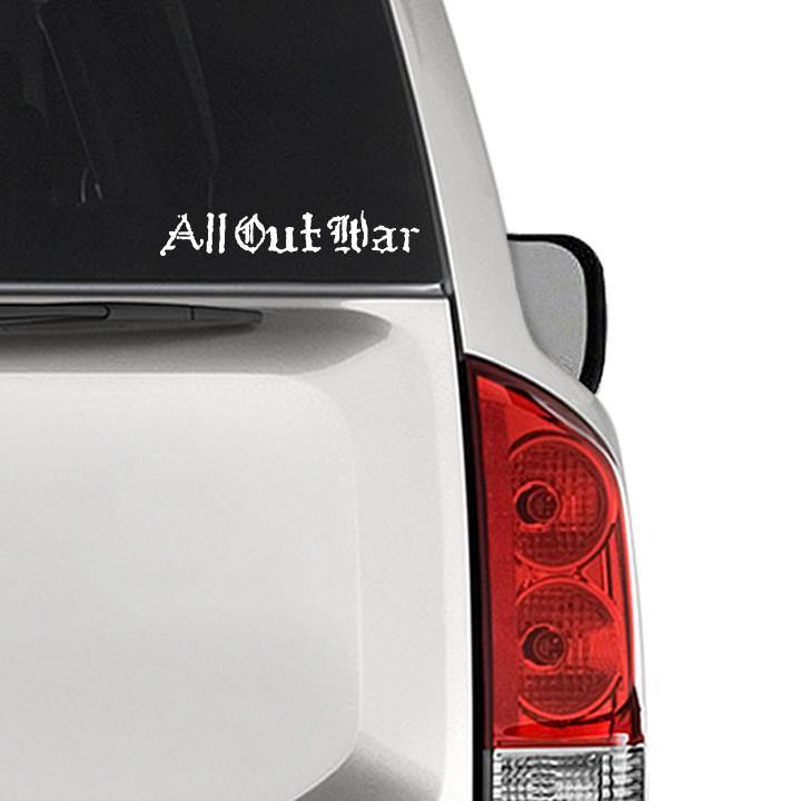 "Buy – All Out War ""Logo"" Decal – Band & Music Merch – Cold Cuts Merch"