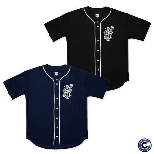 "Buy – Backtrack ""Devil Monogram"" Baseball Jersey – Band & Music Merch – Cold Cuts Merch"