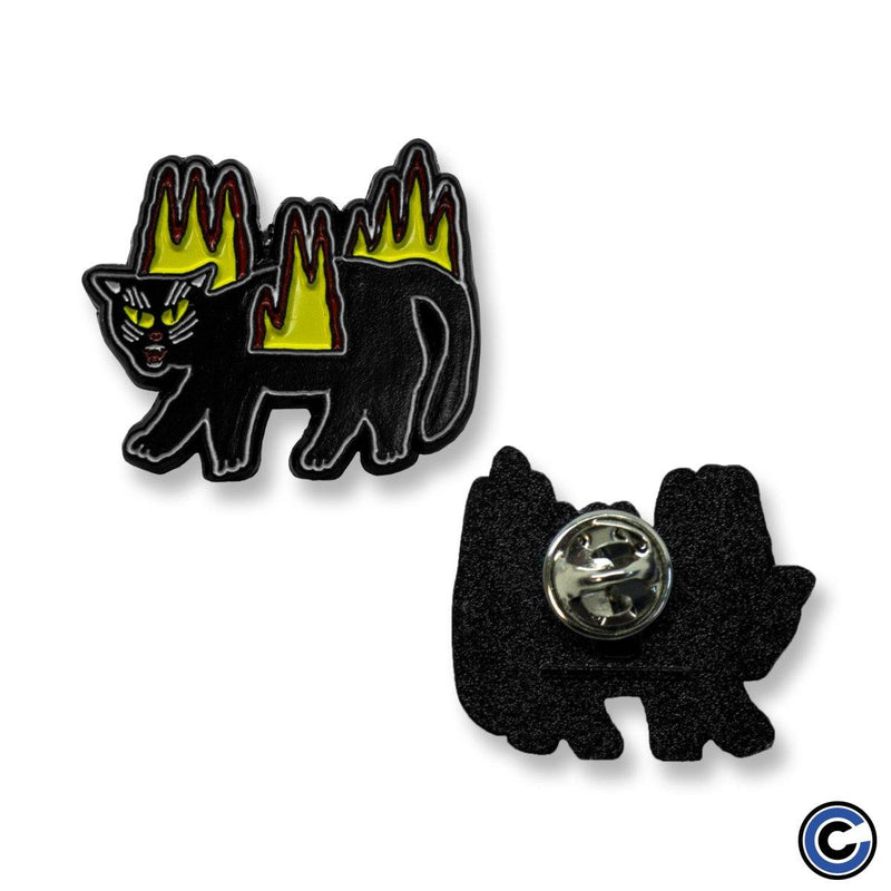 "Basement ""Fire Cat"" Enamel Pin"