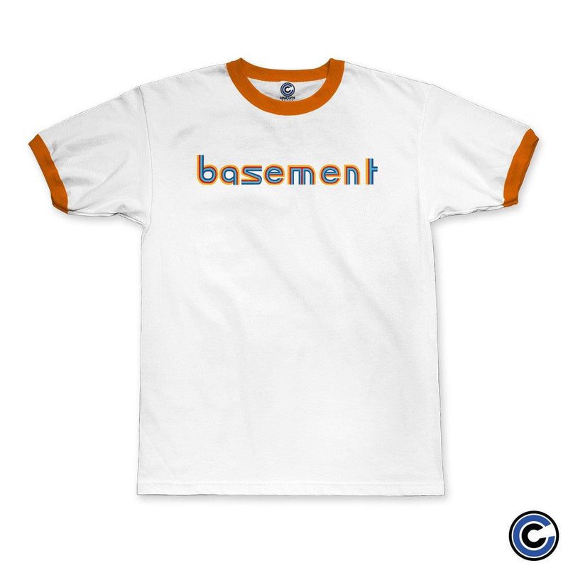 "Basement ""MS Paint Logo"" Ringer Tee"