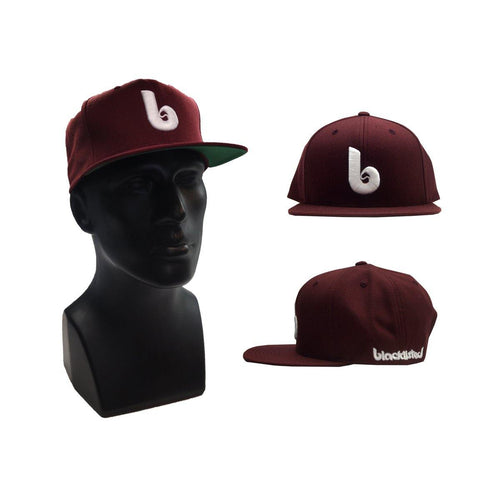 "Buy Now – Blacklisted ""B"" Maroon Snapback – Cold Cuts Merch"