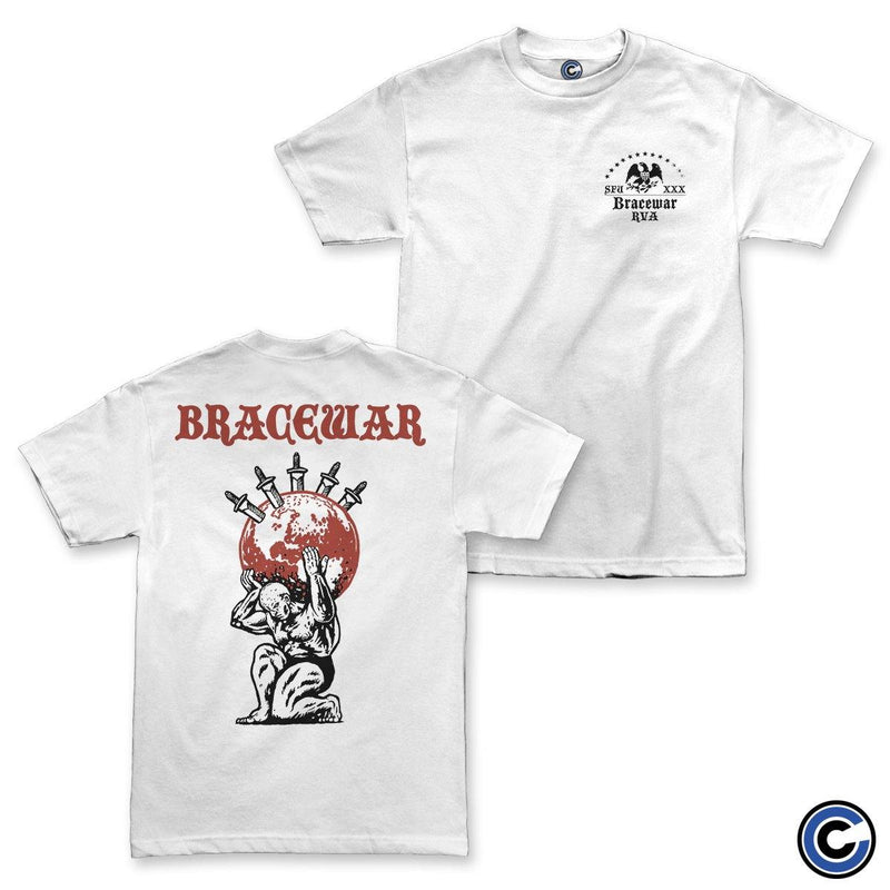 "Bracewar ""Crossed Sword"" White Shirt"