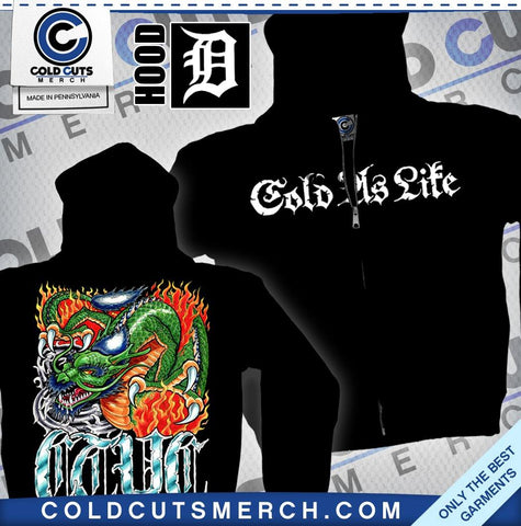 "Cold As Life ""Dragon"" Zip Up Hoodie"