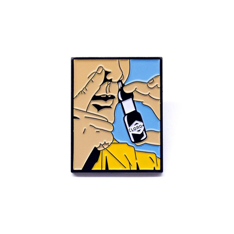 "Cold Cuts Limited ""Snorting Bleach"" Pin"