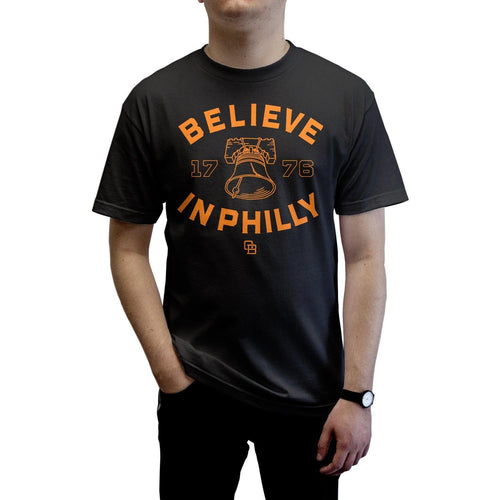 "Buy – Cracked Bell ""Believe in Philly 2.0"" Black Shirt – Band & Music Merch – Cold Cuts Merch"