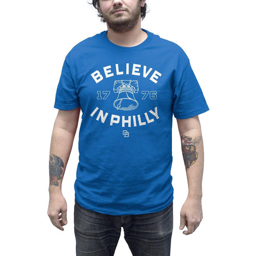 "Buy – Cracked Bell ""Believe In Philly 2.0"" Royal Blue Shirt – Band & Music Merch – Cold Cuts Merch"