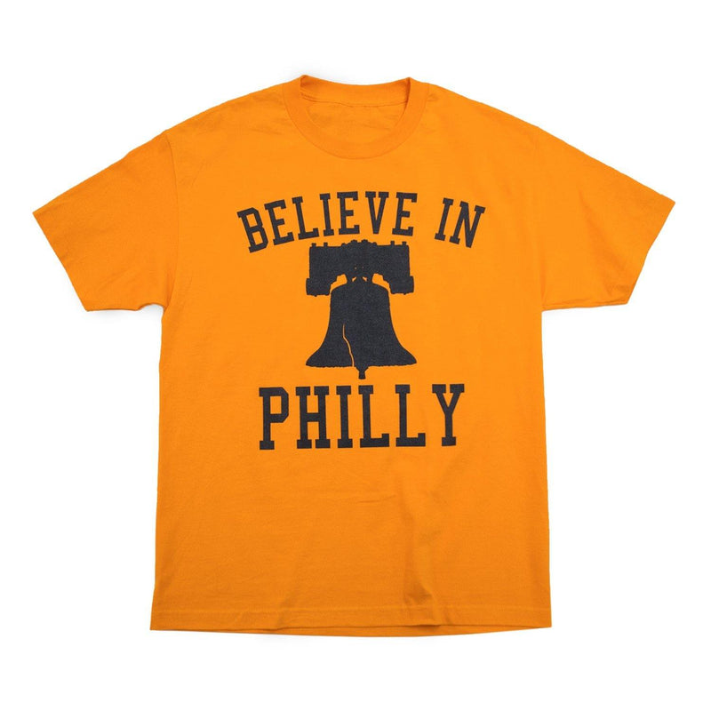 "Cracked Bell ""Believe in Philly"" Orange Shirt"