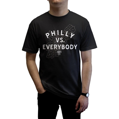 "Buy – Cracked Bell ""Philly Vs Everybody"" Shirt – Band & Music Merch – Cold Cuts Merch"