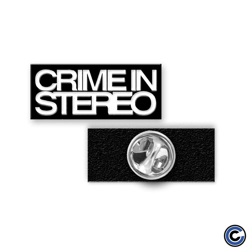 "Crime In Stereo ""Stack Logo"" Pin"