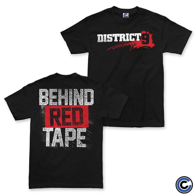 "Buy – District 9 ""Behind Red Tape"" Shirt – Band & Music Merch – Cold Cuts Merch"