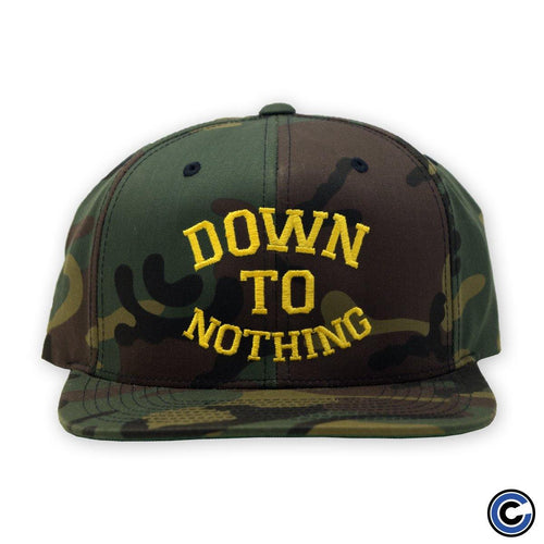 "Buy – Down To Nothing ""Arched Text"" Snapback – Band & Music Merch – Cold Cuts Merch"