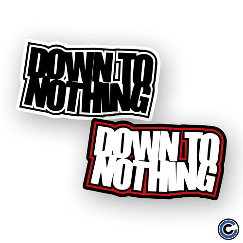 "Buy – Down To Nothing ""Stacked Logo"" Sticker – Band & Music Merch – Cold Cuts Merch"